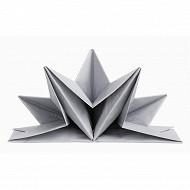 Mesa bella serviettes x12 étoile argent pré plié 40x60cm