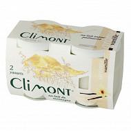 Climont yaourt au lait de montagne arôme vanille 2x125g