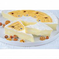 Brie de Meaux aop Patrimoine gourmand 3/4 affiné à la coupe