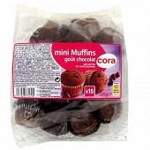 Cora mini muffin cacao et pépites de chocolat 225g