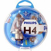 Philips coffret ampoules voiture essential H4-PY21W-P21W-P21/5W-W5W fusibles