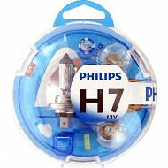 Philips coffret  ampoules voiture essential H7-PY21W-P21W-P21/5W-W5W-fusibles