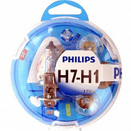 Philips coffret essential ampoules voiture  H7/H1-PY21W-P21W-P21/5W-W5W - fusible