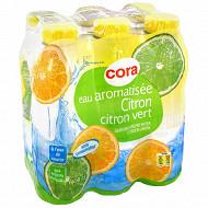 Cora eau aromatisée plate citron citron-vert 6x50cl