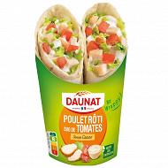 "Daunat ""Be Wrappy"" wrap poulet rôti sauce caesar 190g"