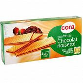 Cora gaufrettes fourrées au chocolat noisettes 160g