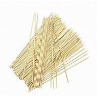 Verciel lot de 100 brochettes bambou 25 cm réf 450104PR