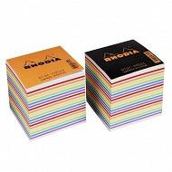 Rhodia bloc cube couleurs assorties 90x90x80 mm