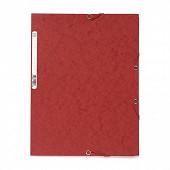 Exacompta chemise élastique 3 rabats carte lustrée rouge