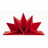 Mesa bella serviettes x12 étoile rouge pré pliées 40x60cm