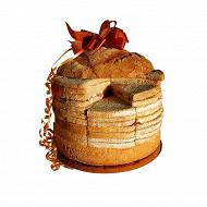 Miche garnie 48 toasts 1kg poulaillon