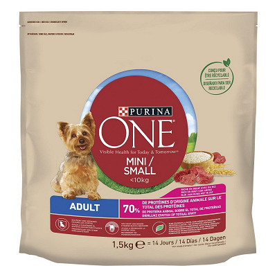 Purina One One my dog is active boeuf et riz  1.5kg