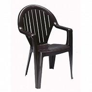 Grosfillex fauteuil miami 2 anthracite  910x560x600 mm