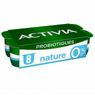 Danone Activia 0% lait fermenté nature au bifidus 8x125g