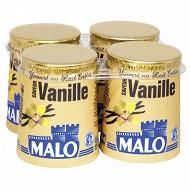 Malo yaourt au lait entier pasteurisé aromatisé saveur vanille 4x125g