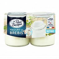 Le petit basque yaourt de brebis nature 2x125g