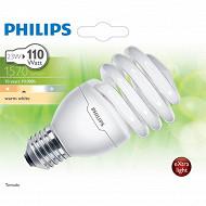 Philips ampoule Tornado T2 E27-23 watts blanc chaud