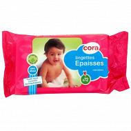 Cora lingettes bébé épaisses recharges x72