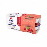 Alsace Lait fromage blanc bibeleskaes fraise 6.5%mg 4x125g