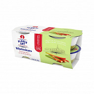 Alsace Lait fromage blanc bibileskaes rhubarbe 4x125g