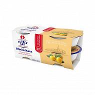 Alsace Lait bibeleskaes fromage blanc sur lit de mirabelle 4x125g