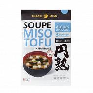 Hikari miso soupe miso tofu algues wakame 58g