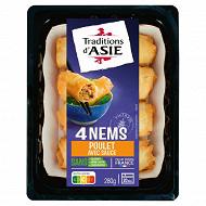 Traditions d'Asie 4 nems au poulet sauce nuoc mam 280g