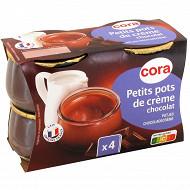 Cora dessert lacté petit pot de crème chocolat 4x100g
