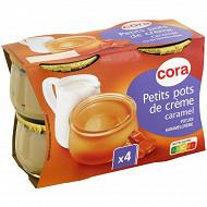 Cora dessert lacté petit pot de crème caramel 4x100g