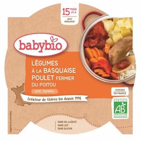 Babybio petit plat légumes à la basquaise poulet dès 15 mois 260g