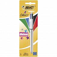 Bic stylo bille 4 couleurs shine