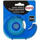 Cora  devidoir avec un ruban adhesif transparent 25m