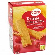 Cora tartines fourrées framboise 200g