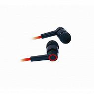 Apm Ecouteurs intra auriculaires câble plat rouge 426023