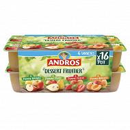 Andros dessert de pommes poires fraises et abricots 16x100g