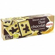 Cora biscuit cacao duo chocolat 115g