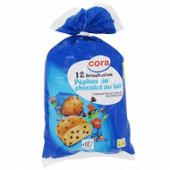 Cora 12 briochettes pépites de chocolat au lait 480g