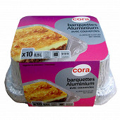 Cora barquettes x10 aluminium 0.5 litres