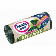 Handy bag sacs poubelles x10 recyclés 50l