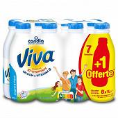 Viva lait demi-écrémé bouteille 7x1l  + 1 offert
