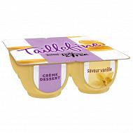 Danone Taillefine crème dessert aromatisée saveur vanille 4x120 g
