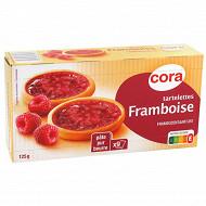 Cora tartelettes pur beurre framboise 125g
