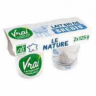 Vrai yaourt au lait de brebis nature biologique 2x125g