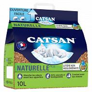 Catsan naturelle plus litière végétale pour chat 10l