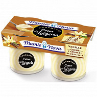 Mamie Nova liégeois dessert lacté à la vanille et coeur caramel au beurre salé 2x120g