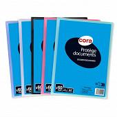 Cora protège documents personnalisable 60 vues polypro trans-opaque cora