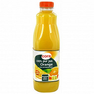 Cora pur jus orange pulpé pet 1L