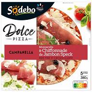 Sodebo Dolce pizza Campanella mozza jambon speck 380g