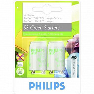 Philips 2 starters S2 4w-22 watts