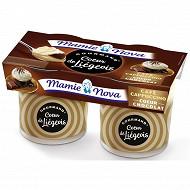 Mamie Nova liégeois dessert lacté capuccino sauce chocolat 2x120g